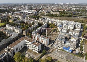 Luftbild Berlin Neubauten Wohnungsbau