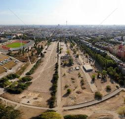 Luftbild Panorama Berlin Mauerpark