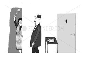 Toilettenfrau