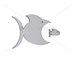 grosser Fisch  kleiner Fisch