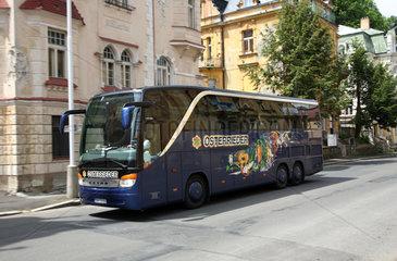 Marienbad  Tschechische Republik  deutscher Reisebus