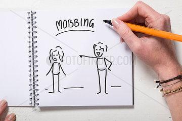 Illustration Mobbing