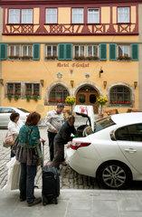 Rothenburg ob der Tauber  Deutschland  Touristen reisen ab