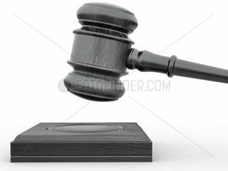 Judge gavel on white isolaed background. 3d