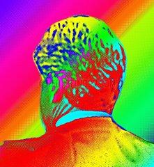 Mann Hinterkopf Abstrakt Surreal