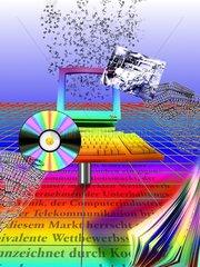 MULTIMEDIA Wettbewerb Unterhaltungsindustrie Buchstaben CD Computer