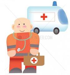Serie Berufe Sanitaeter Rettungsdienst Notfall