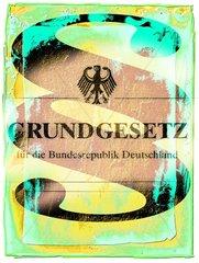GRUNDGESETZ Paragrafenzeichen Bundesadler