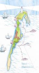 Hiddensee Landkarte Insel