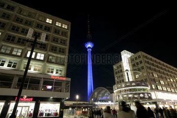 Nachtaufnahme Alexanderplatz