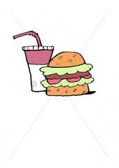 Serie Pictogramme Hamburger 1