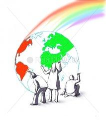 Neue Welt Regenbogen