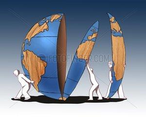 Globus als Bausatz