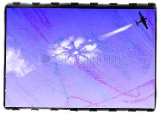 Himmelsschreiber Duesenflugzeug Bluemchen Umweltfreundlich Flugzeug