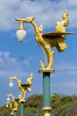 Traditional lantern hanger in Thailand. Ko Si Chang island.