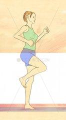 Serie Sport laufen Frau