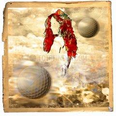 Halbakt Golfbaelle Frau Verfuehrung