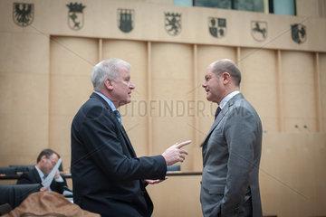 Berlin  Deutschland  Olaf Scholz  SPD  und Horst Seehofer  CSU
