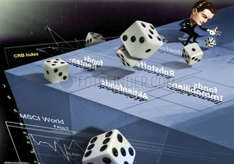 Anlagen Aktien Wuerfel Wuerfelspiel Spekulation