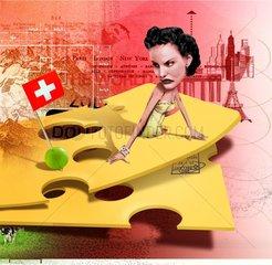 SCHWEIZ Serie Frau Urlaubsland