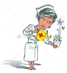 Schwester Freizeit Zusatzleistungen Blumenpflege 1 freigestellt