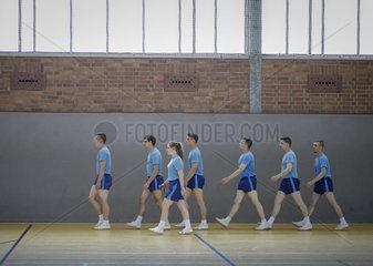 Rekruten beim Basis Fitness Test der Bundeswehr