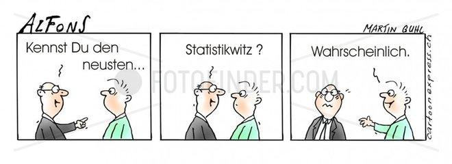 Serie Alfons Comicstrip Statistik