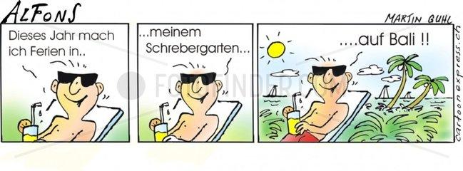 Serie Alfons Comicstrip Schrebergarten