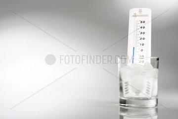 Wasserglas mit Thermometer