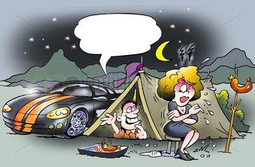 Camping mit Streit