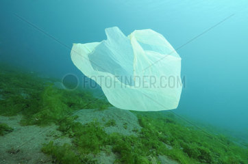 Plastikmuell treibt unter Wasser