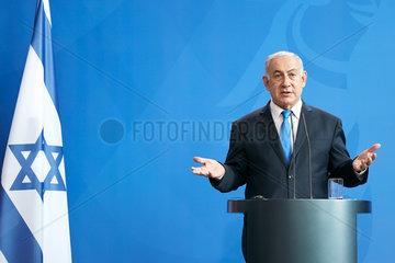 Berlin  Deutschland - Der Ministerpraesident des Staates Israel Benjamin Netanjahu.