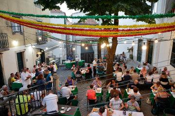 Lissabon  Portugal  Restaurant in Alfama in Lissabon