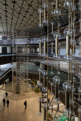 Sofia  Bulgarien  Gluehlampen im Nationalen Kulturpalast NDK