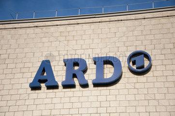 Hamburg  Deutschland  Schriftzug ARD