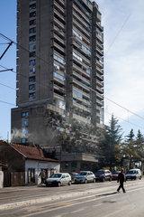 Belgrad  Serbien  Plattenbau im Bezirk Vozdovac