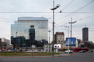 Belgrad  Serbien  Wohn- und Geschaeftsbauten am Slavija Platz im Zentrum von Belgrad