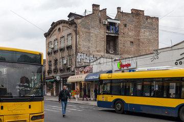 Belgrad  Serbien  Altbau am Busbahnhof im Zentrum