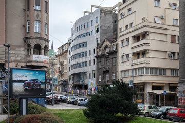 Belgrad  Serbien  Wohn- un Geschaeftsbauten am Zeleni Venac im Zentrum
