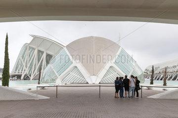 Valencia  Spanien  Ciutat de les Arts i les Ciencies in Valencia  gebaut vom Architekten Santiago Calatrava
