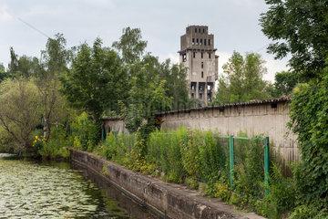 Stettin  Polen  Industrieruine im Hafen