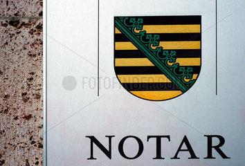 Leipzig  Notar mit saechsischem Wappen