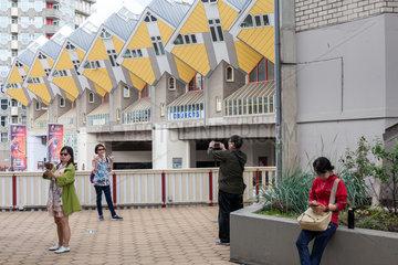 Rotterdam  Niederlande  Kubushaus  nach einem Entwurf vom Architekten Piet Blom in Rotterdam