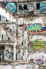 Berlin  Deutschland  Abriss eines Gebaeudes an der Stralauer Allee in Berlin-Friedrichshain