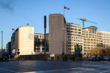 Berlin  Deutschland  Letztes  unbebautes Grundstueck am Leipziger Platz in Berlin-Mitte