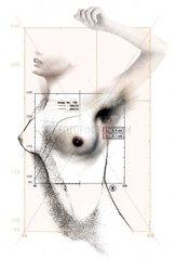 Brustkrebs Frauenkoerper Raster