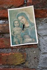 Heiligenbildchen in Rom