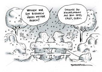 Wetter Kachelmann Schneechaos Karikatur