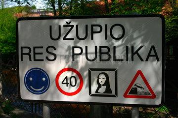 Uzupio Res Publika in Vilnius