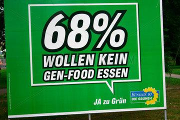 Gruene Wahlplakat
